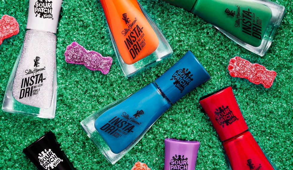 Sally Hansen Just Dropped This SWEET Sour Patch Collab, Just In Time For Halloween-Inspired Manis