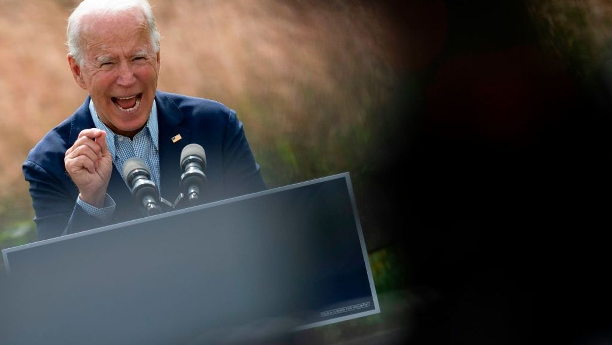 Joe Biden warns America's suburbs will be destroyed by 'hellish' fires, floods, and superstorms if 'climate arsonist' Trump is re-elected
