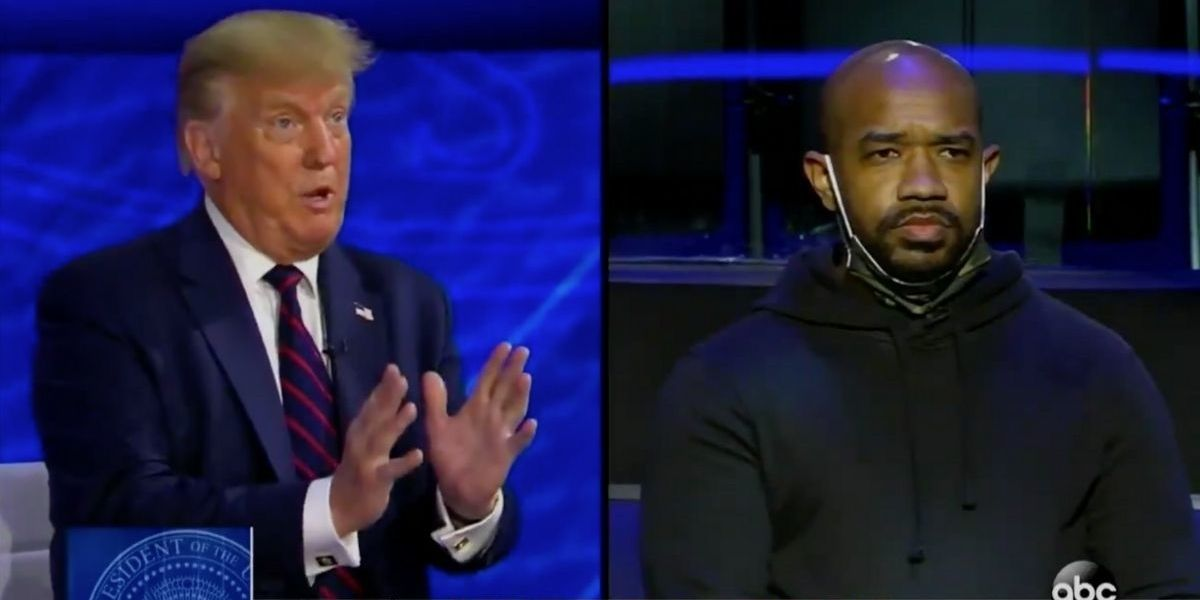 Trump Dismisses Black Man's Concerns About Racial Inequality During Town Hall To Talk About His Poll Numbers
