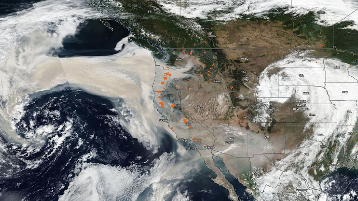Smoke From West Coast Wildfires Reaches East Coast, Europe