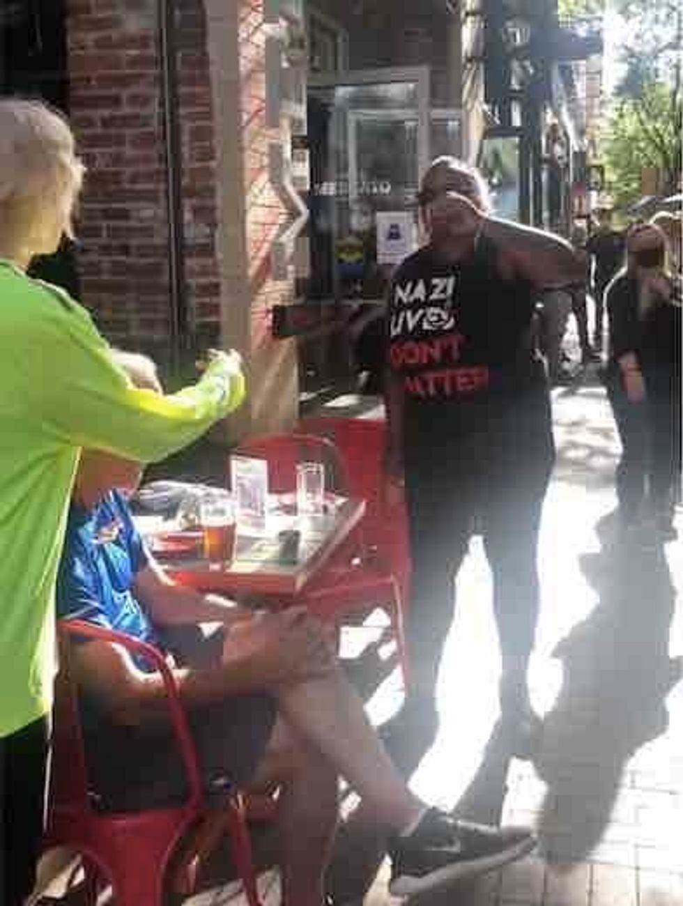 Black Lives Matter militants charged after viral video shows them harassing elderly diners: 'F*** the white people'