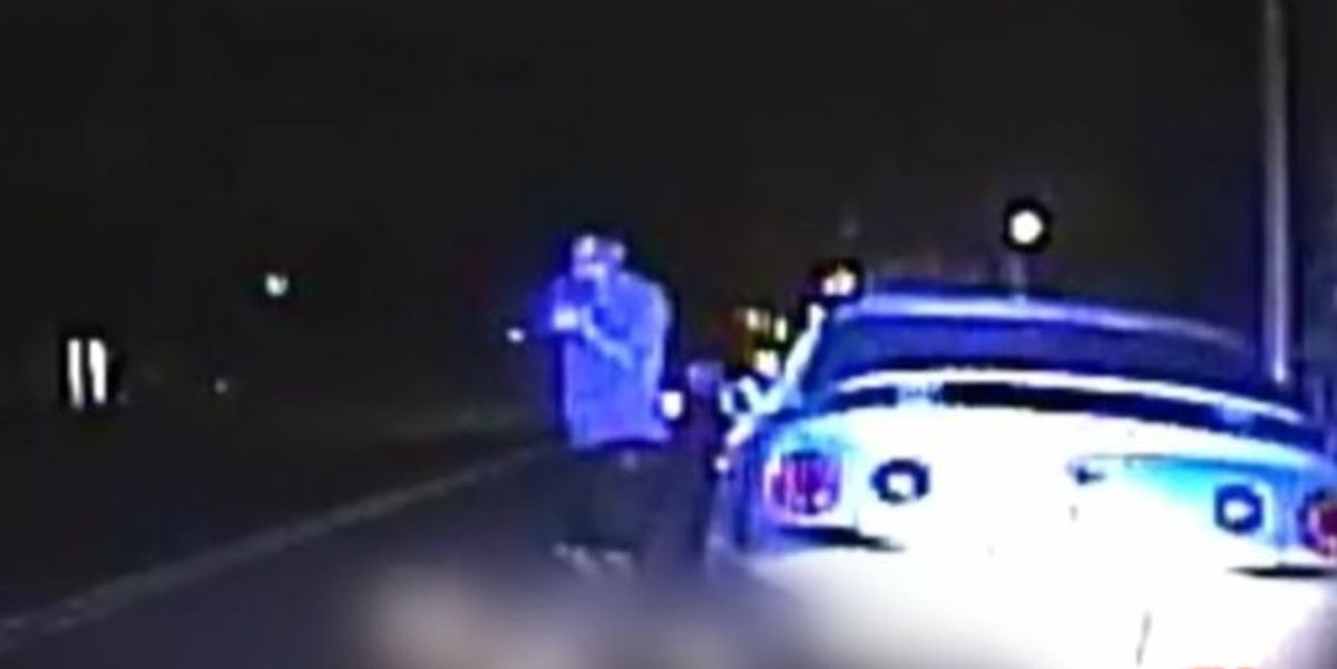Video released showing suspect shooting two Tulsa police officers — killing one — during routine traffic stop