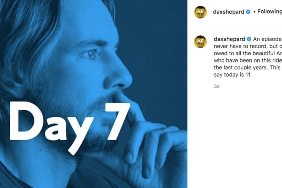 After 16 years sober, Dax Shepard bravely announced a reset of his sobriety clock