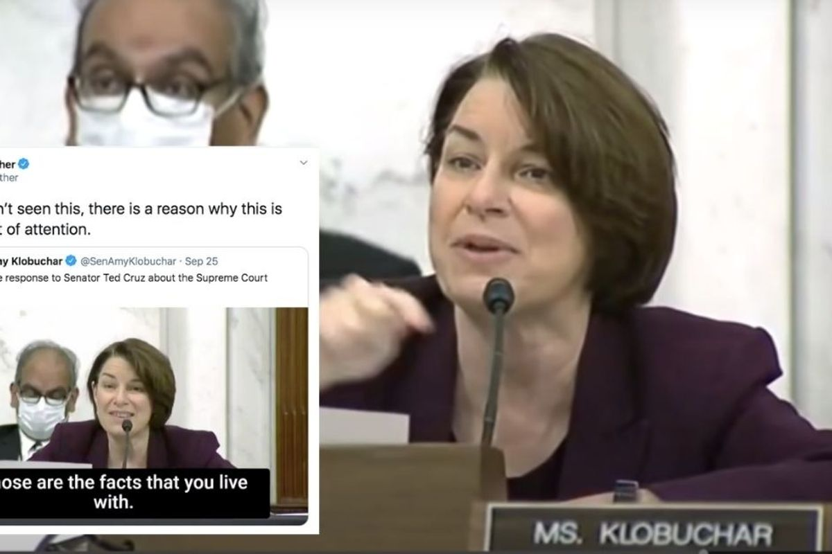 Amy Klobuchar's masterful response to Ted Cruz's SCOTUS nomination argument is a must see