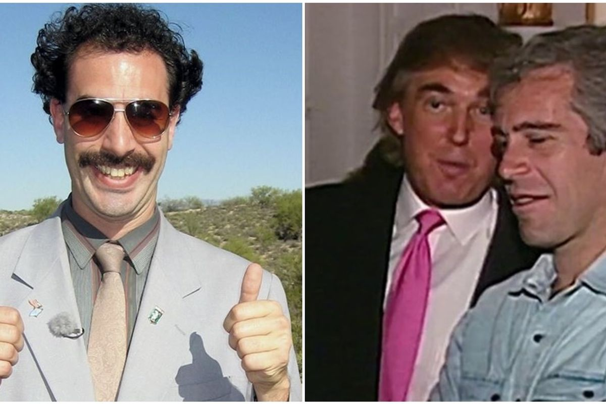 Borat is coming back for a sequel and it's going to be about the Trump-Epstein relationship.
