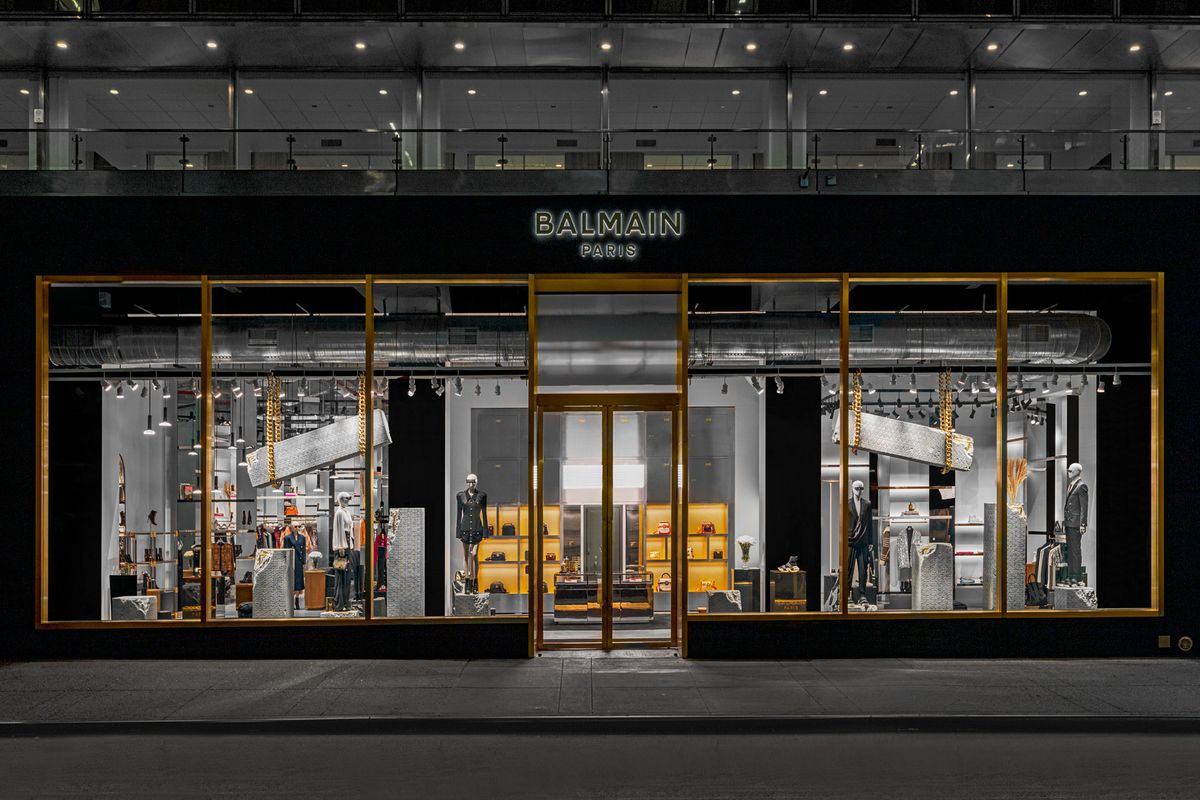 This Massive New Balmain Store Brings the Glamour of Paris to NYC