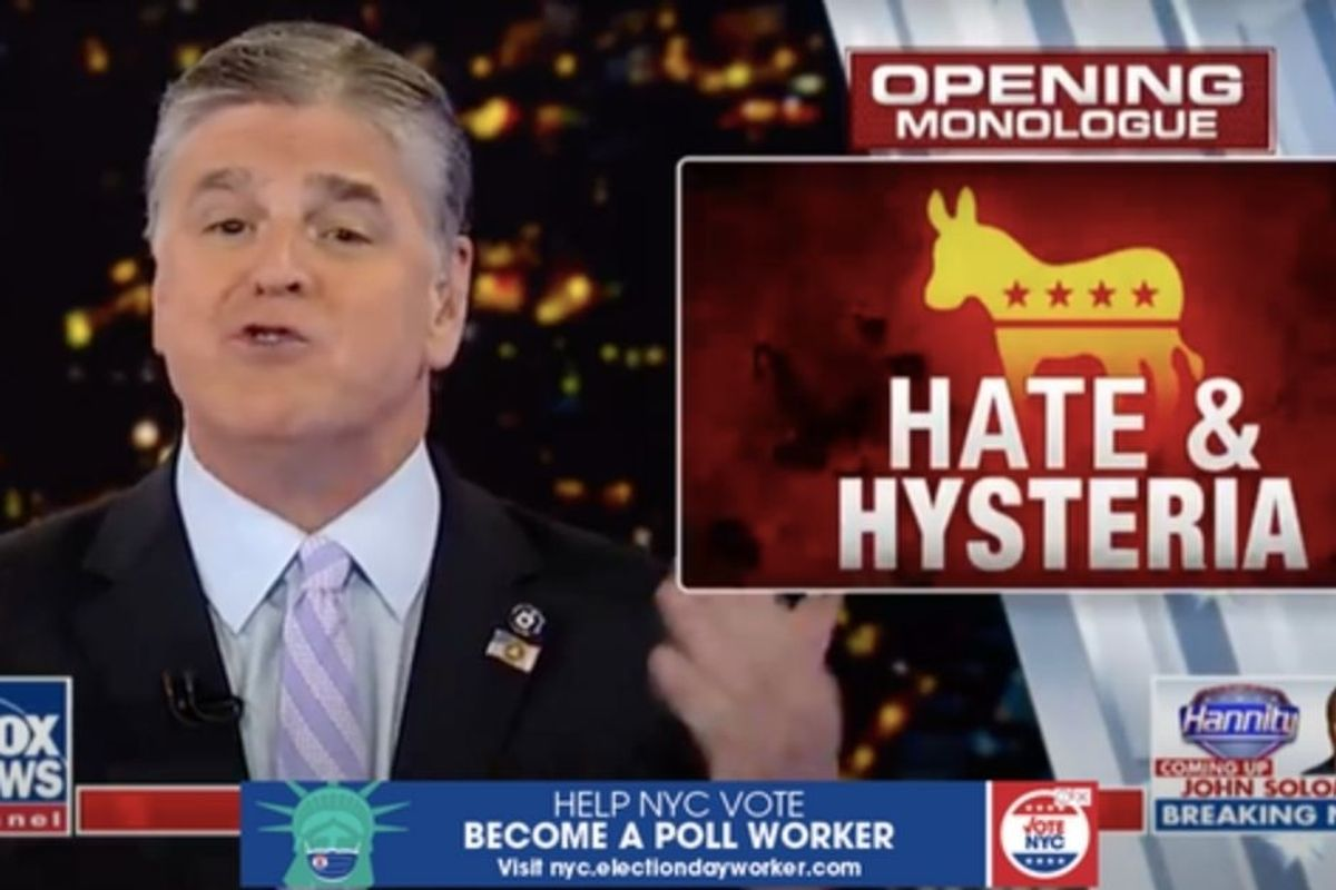 Fox News uses the word 'hate' far more often than MSNBC or CNN