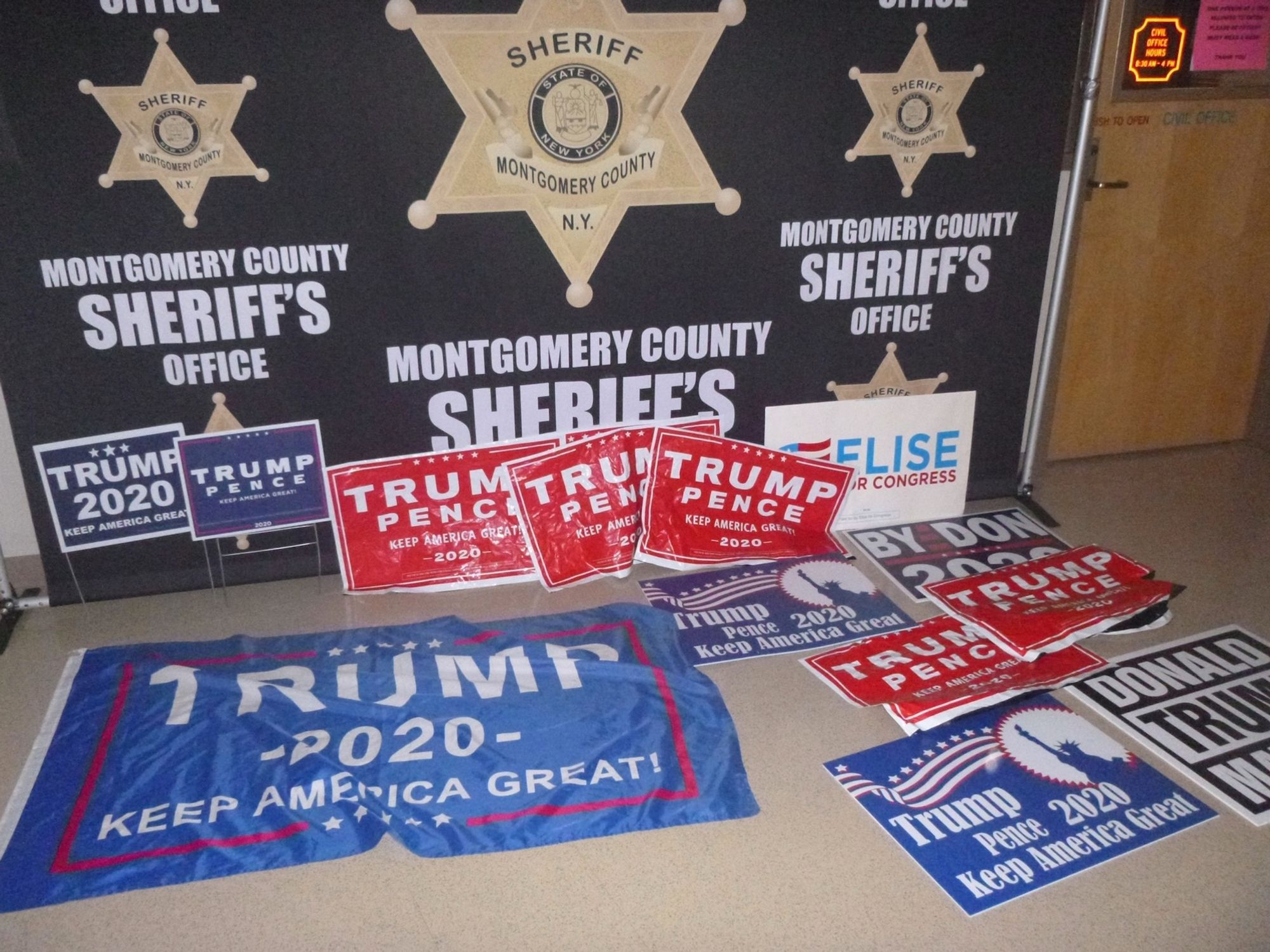 Police arrest woman for allegedly driving 6 children around upstate New York to rip down Trump campaign signs