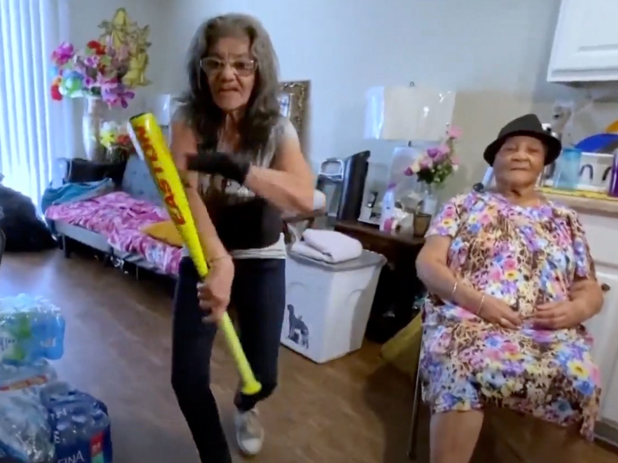 82-year-old woman saved from intruder attack by bat-wielding elderly neighbor with martial arts skills