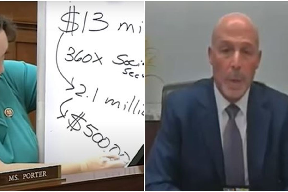Pharma CEO squirms as Katie Porter exposes his price-gouging scheme with her trusty whiteboard