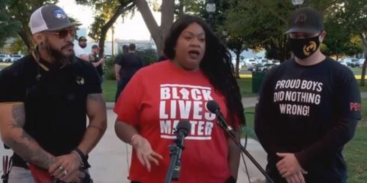 Utah BLM and Proud Boys leaders hold joint press conference calling for unity in America