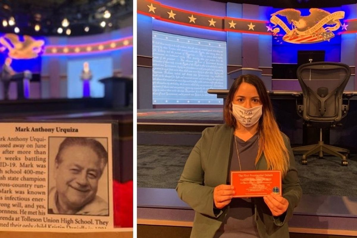 Debate attendee whose father died of COVID-19 speaks on possible exposure from Trump