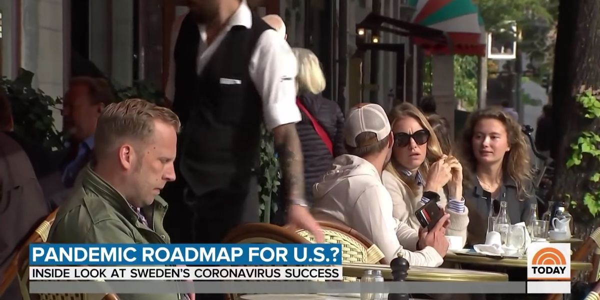 NBC News actually reports Sweden never implemented a COVID-19 lockdown but is faring better than other nations, asks if it could be the 'pandemic roadmap' for the US