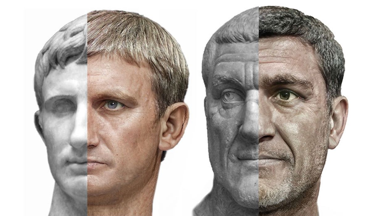 Designer uses AI to bring 54 Roman emperors to life
