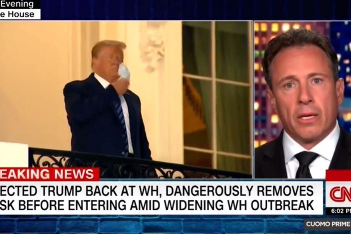'Bullsh*t': CNN's Chris Cuomo couldn't hold back on live TV after Trump's White House return