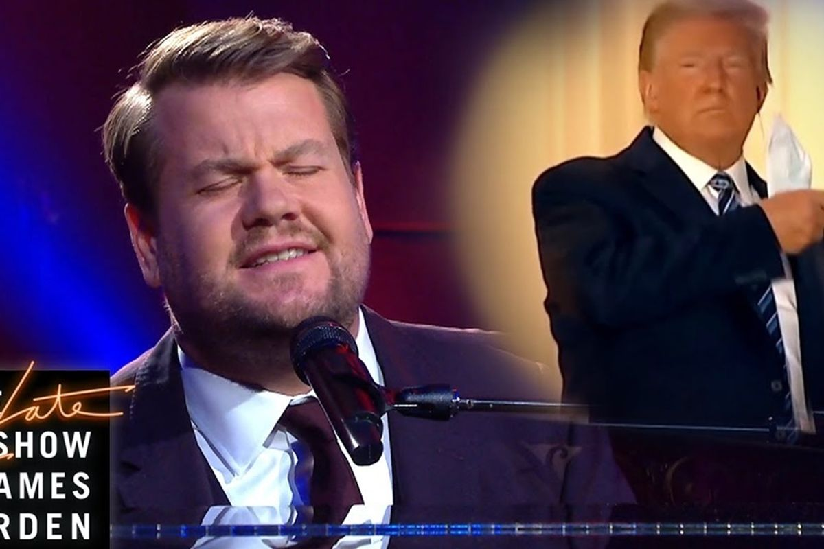 James Corden mocks Trump's White House return with Paul McCartney parody: 'Maybe I'm Immune'