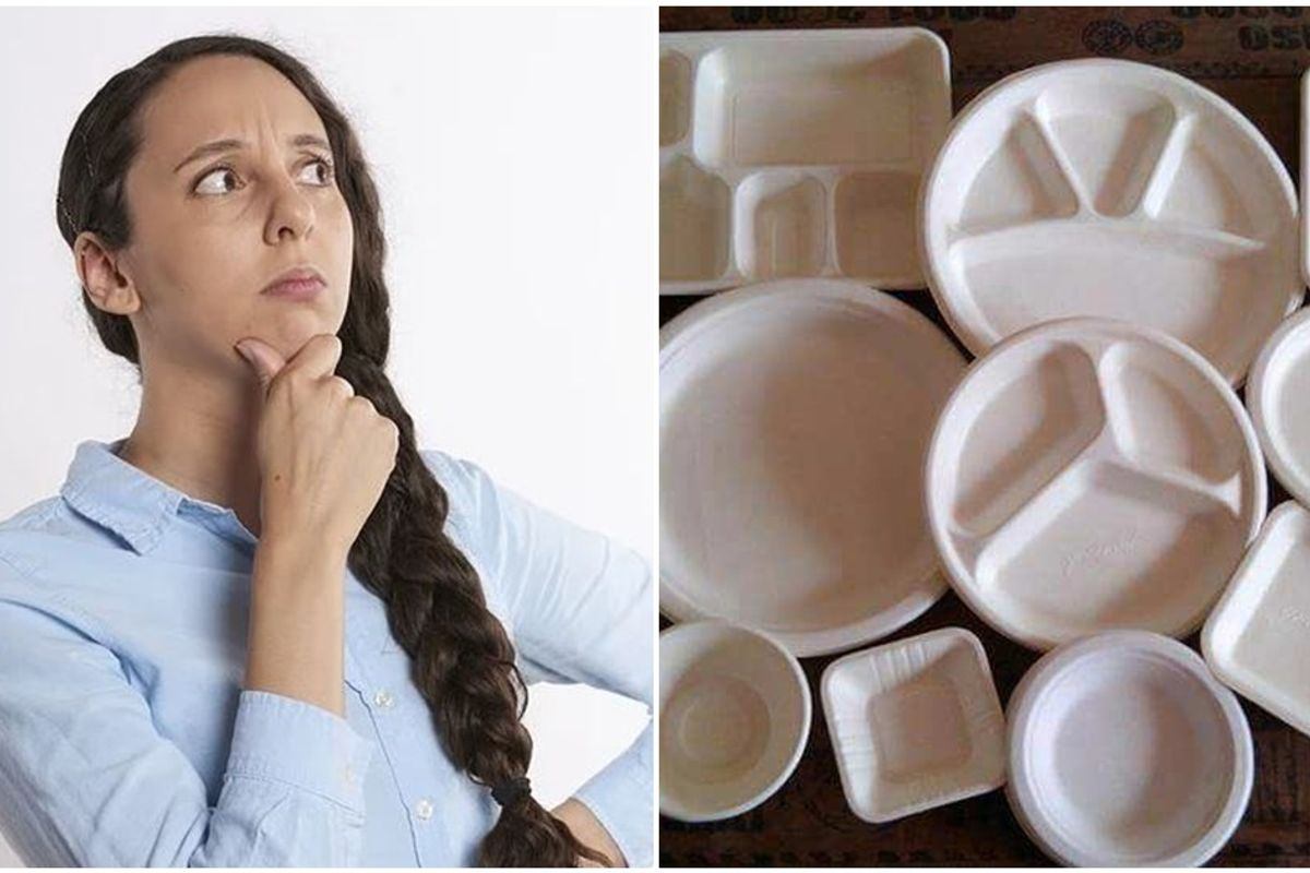 People are seriously divided over whether these plates and bowls are upside down or not