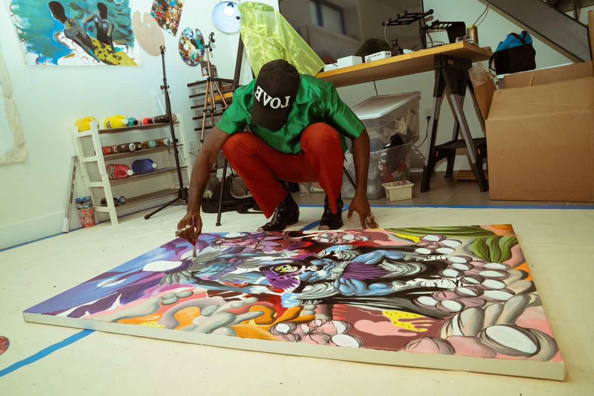 Gianni Lee on His Art Process, Black Representation and New Mattel Print