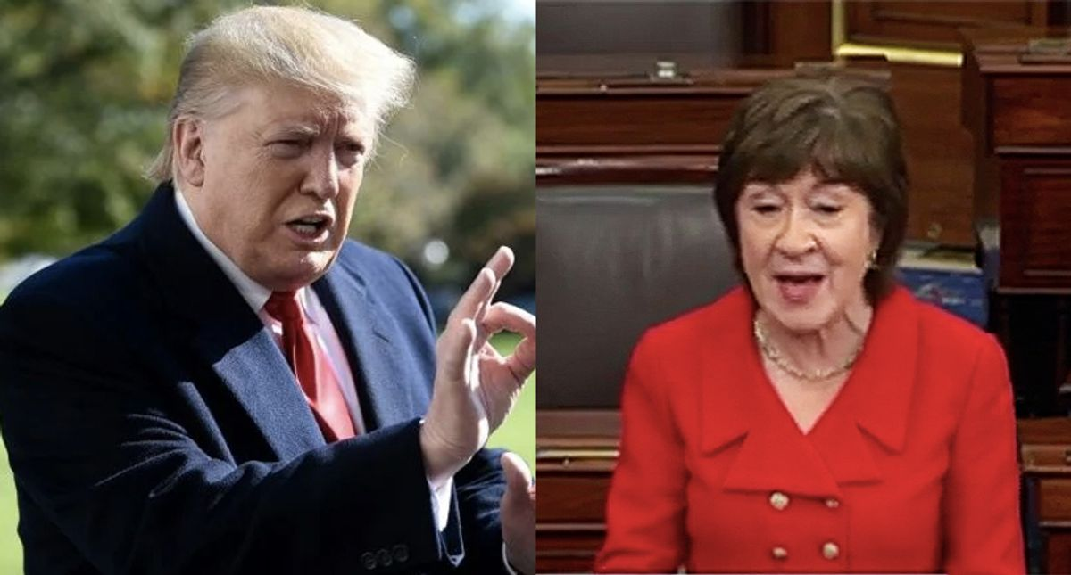 A year after Susan Collins said Trump 'learned a lesson' she was begging him to stop the Capitol attack