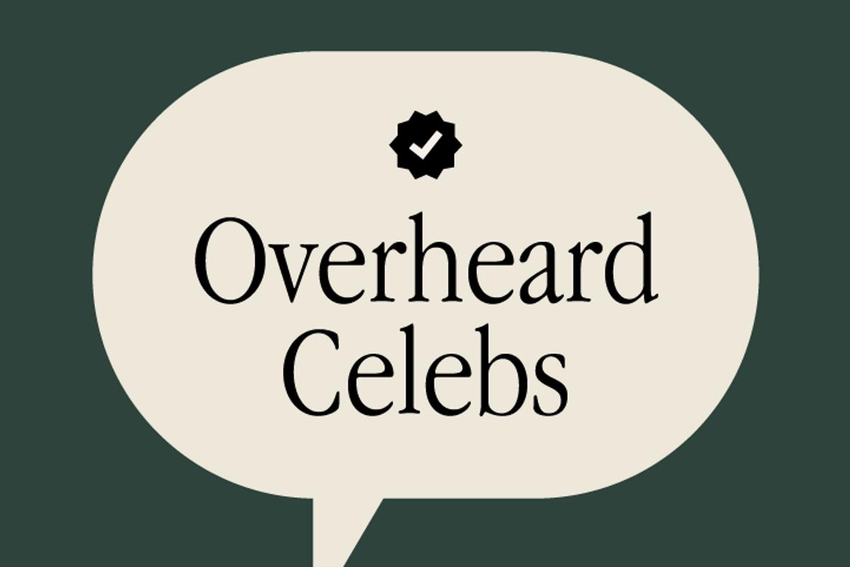 @OverheardCelebs Is Your New Favorite Instagram Account