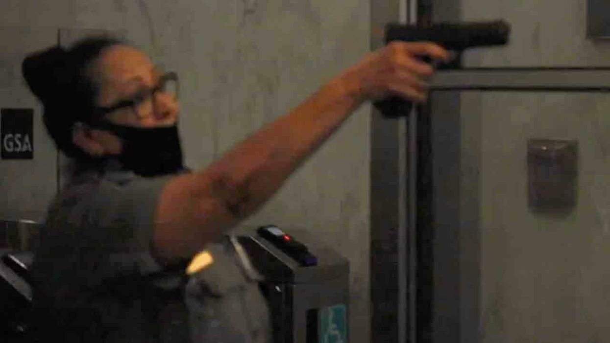 VIDEO: Security guard pulls gun on protesting mob that stormed lobby of New York City federal building