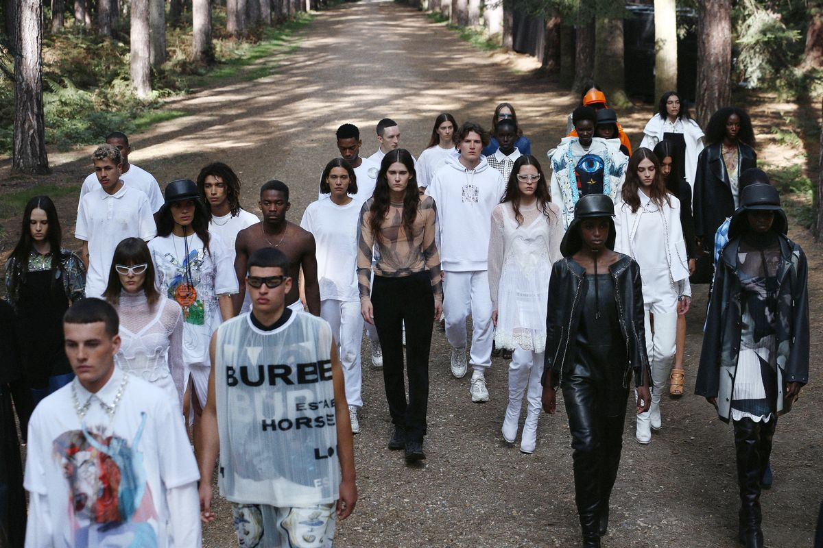 Rosalía and Bella Hadid Hosted Burberry's Forest Fashion Show