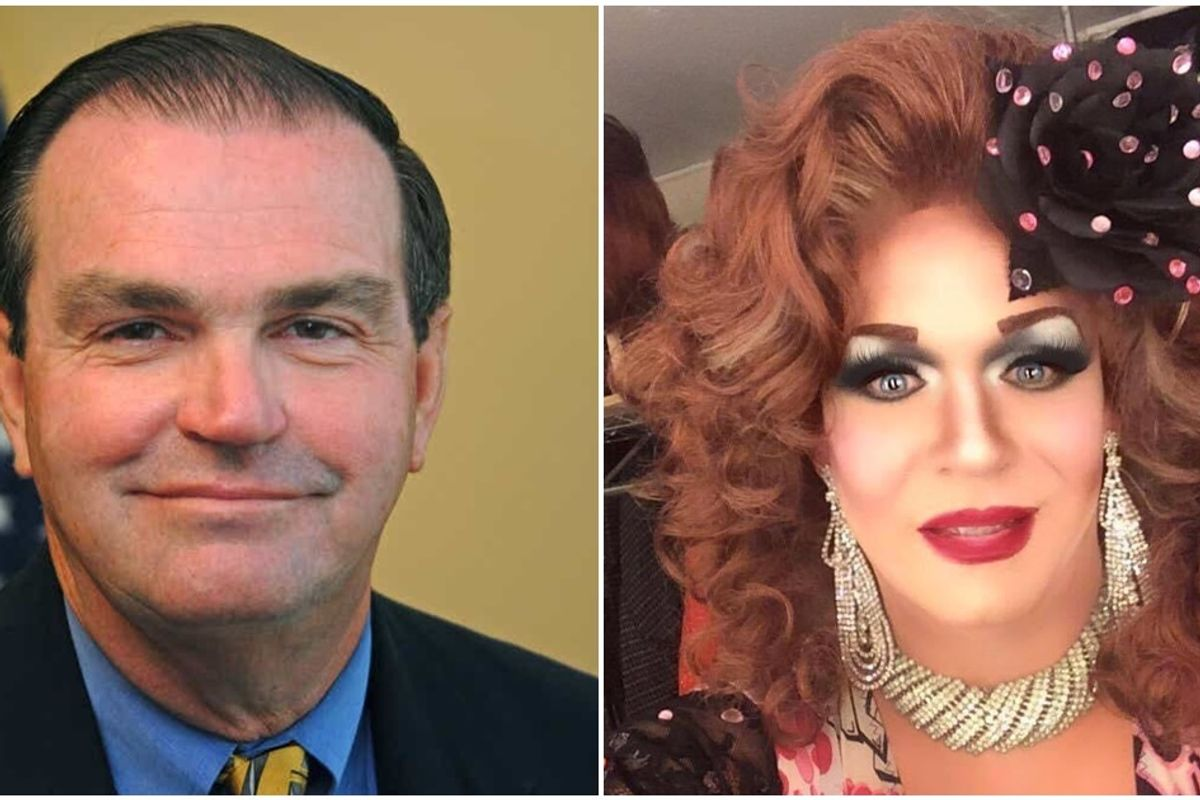 Democrat who opposed same-sex marriage beaten by gay drag queen in landslide primary victory