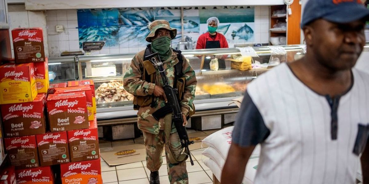South African Soldier Shoots Man For Not Wearing A Mask