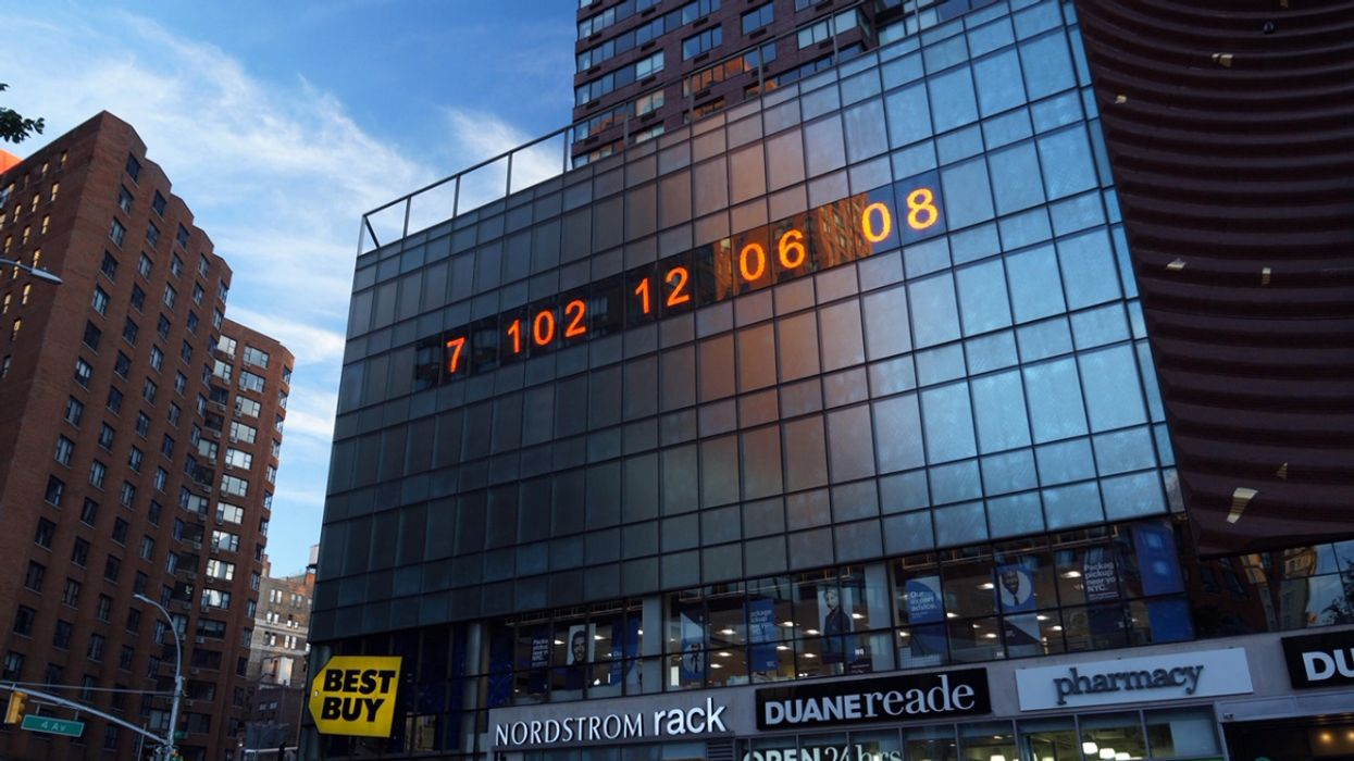 Massive 'Climate Clock' Urging Governments to Act Is Unveiled in New York City