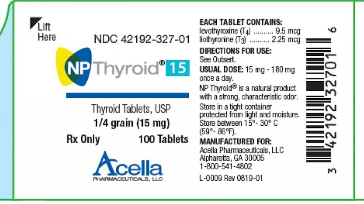 Thyroid Medication Recalled for Being Too Weak