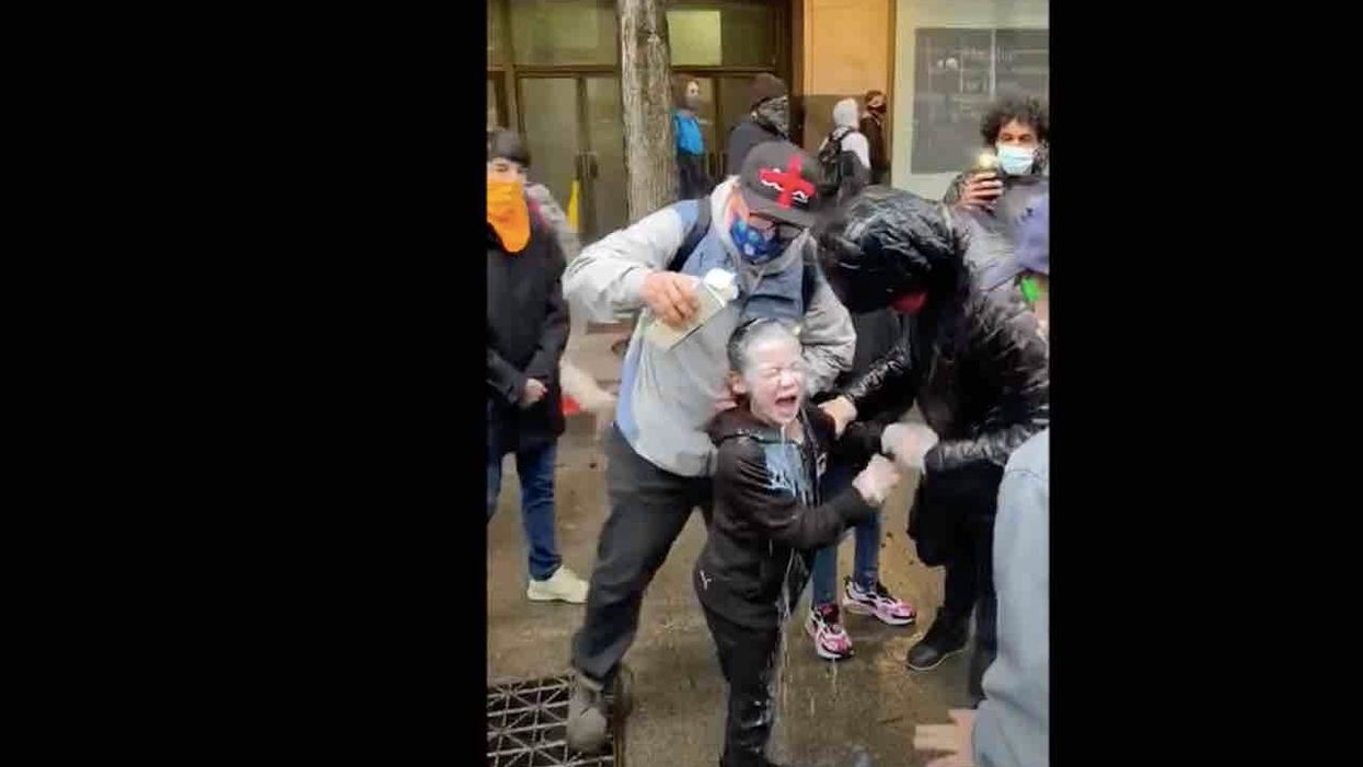 Remember the little boy who got pepper-sprayed at an anti-police protest while with his dad? Watchdog group finds incident wasn't intentional.