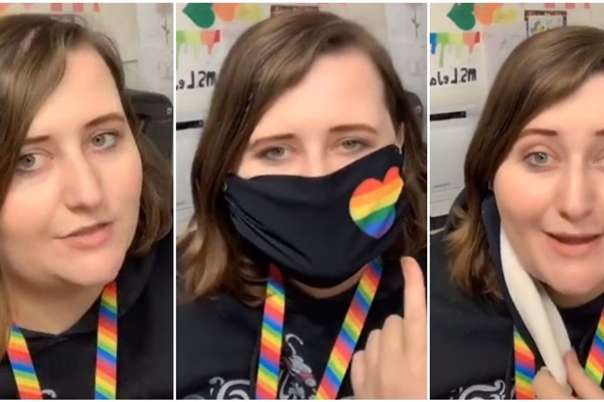 Teacher told she can't display Pride decorations in her classroom finds the perfect solution