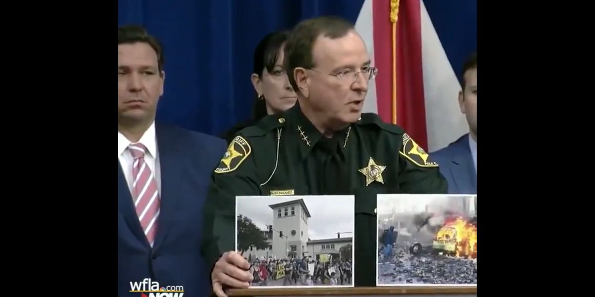Florida sheriff uses pictures to help confused press: 'This is a peaceful protest. This is a riot.'