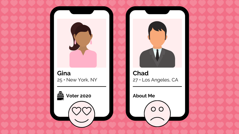Registered Voters Are Getting More Love On Dating Apps, As They Should