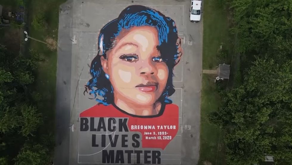 Breonna Taylor mural in Annapolis, Maryland.