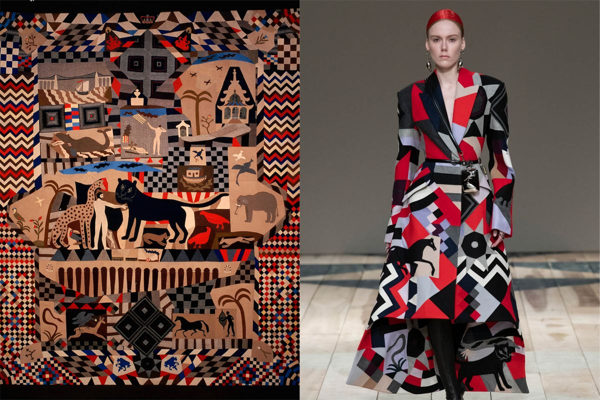 How This 19th Century Quilt Inspired Alexander McQueen's Graphic Patchwork Tailoring