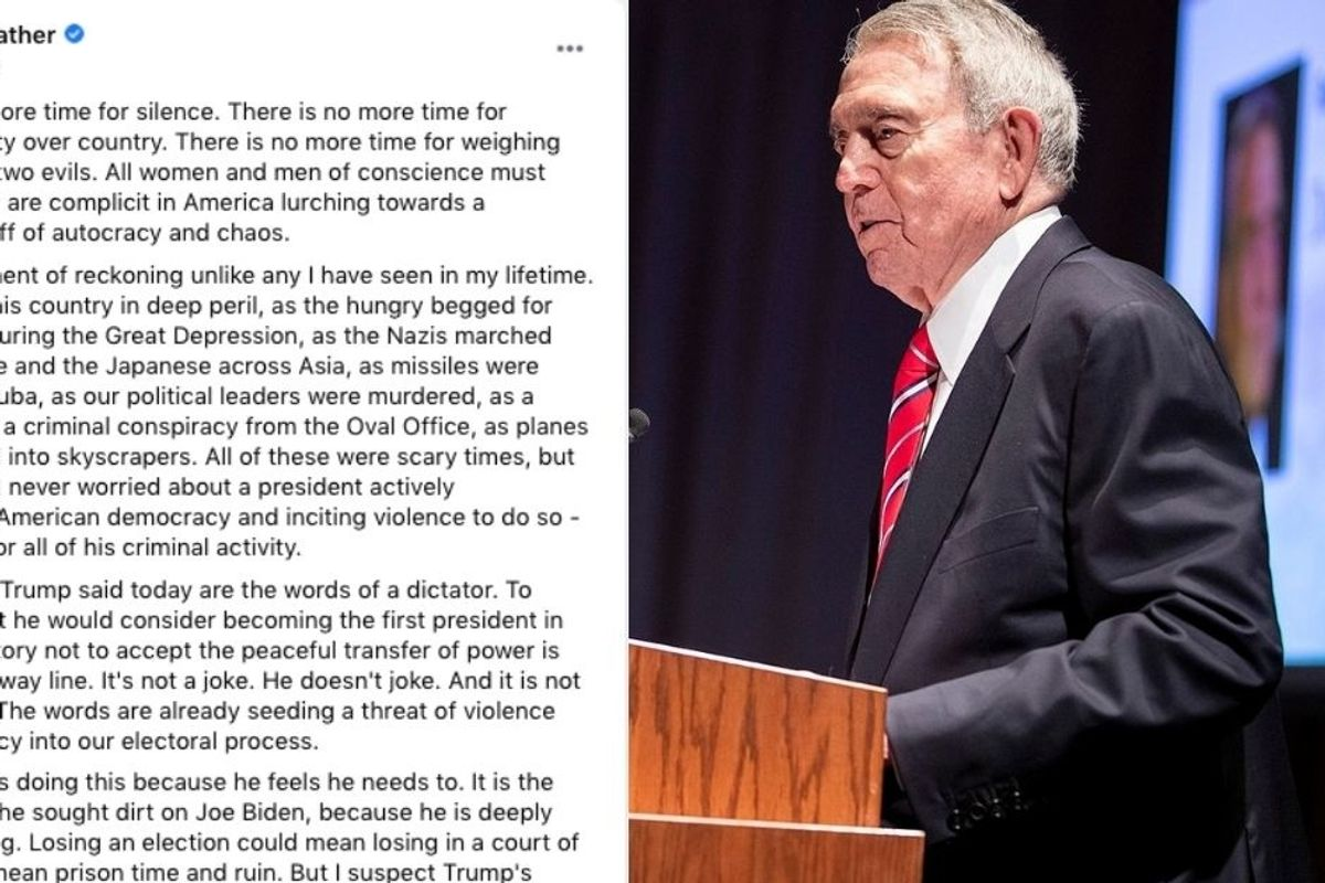 Dan Rather, 88, says we are in 'a moment of reckoning unlike any I have seen in my lifetime'