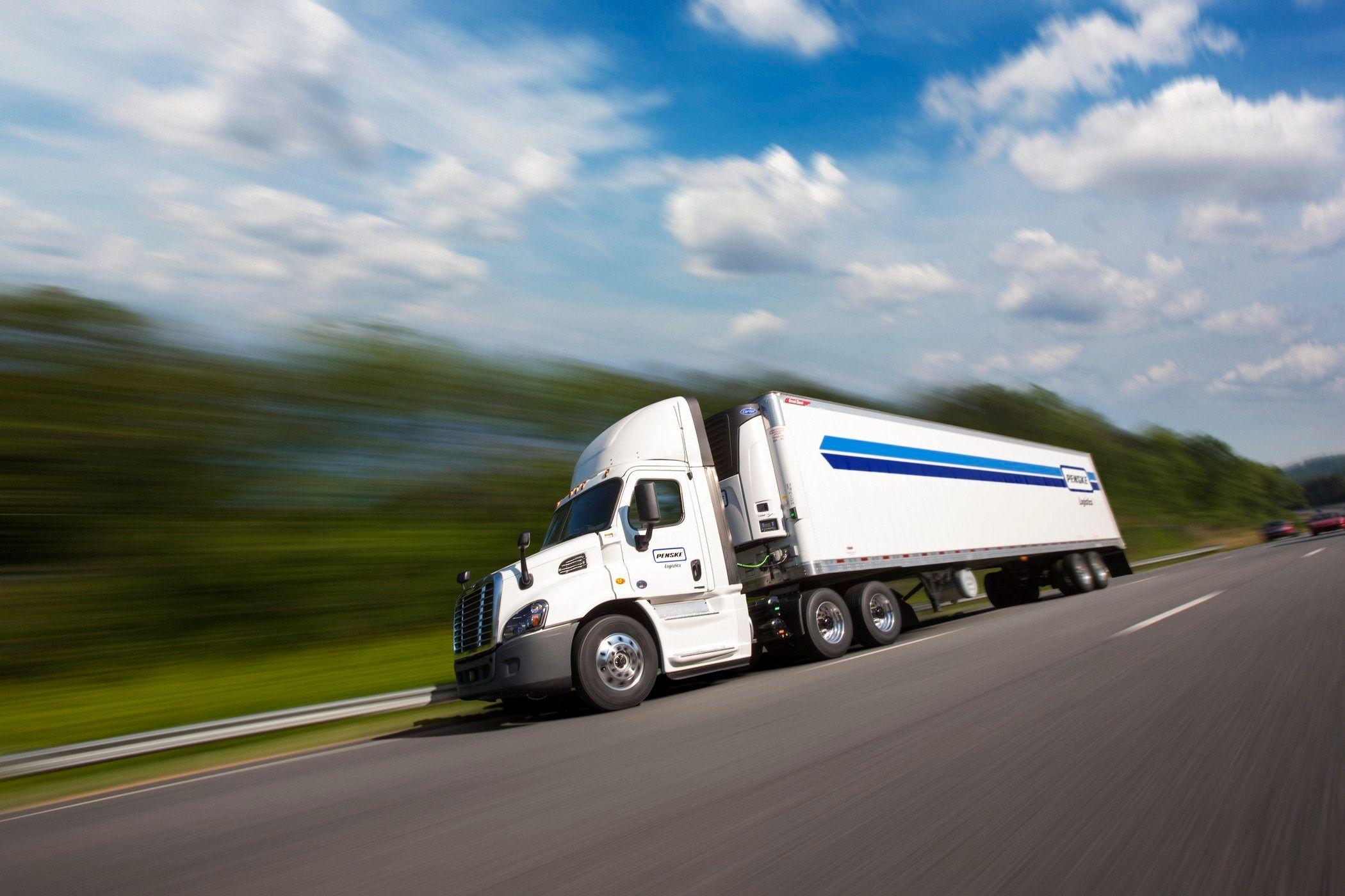 Penske Logistics truck on the road