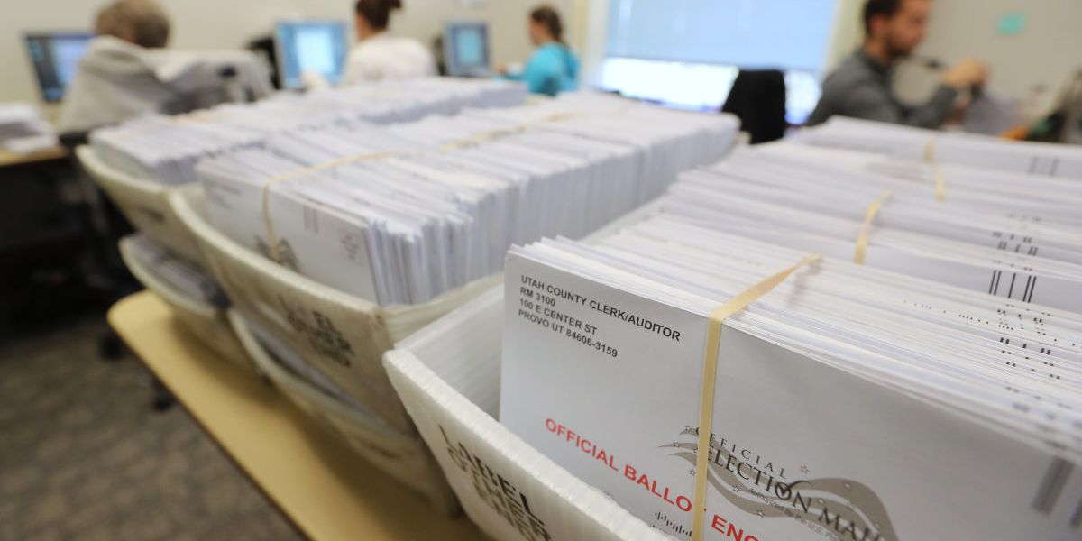 Seven military mail-in ballots cast for President...