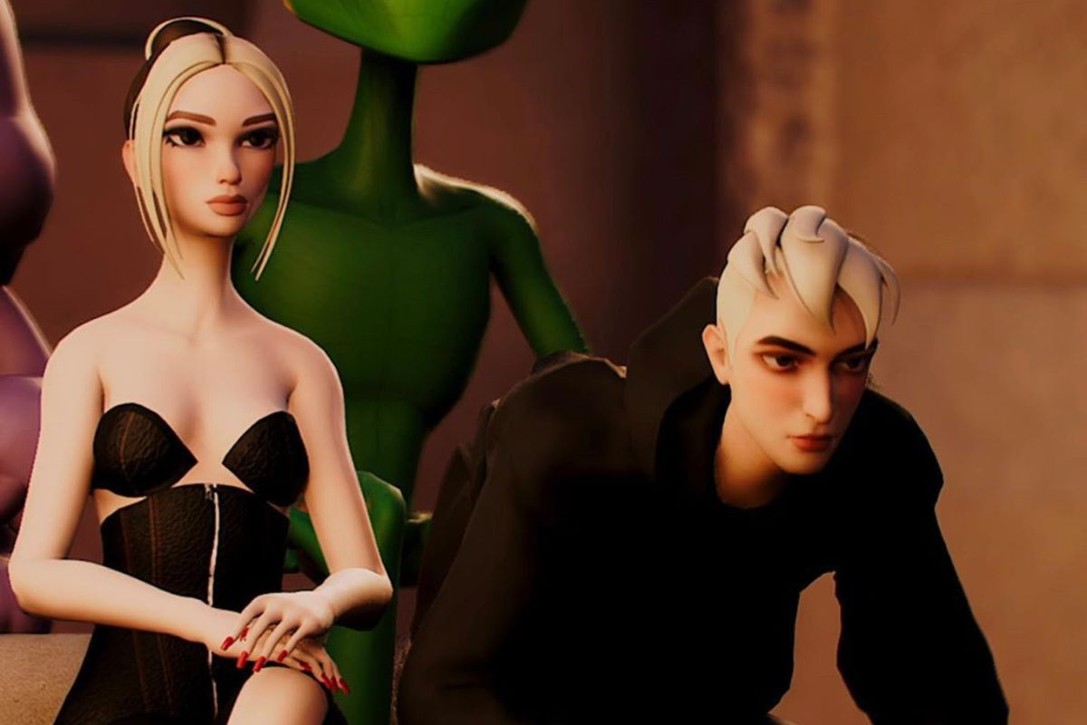 GCDS Had the Most Surreal Front Row at Its Virtual Fashion Show