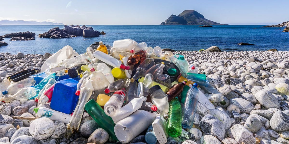 plastic pollution beach