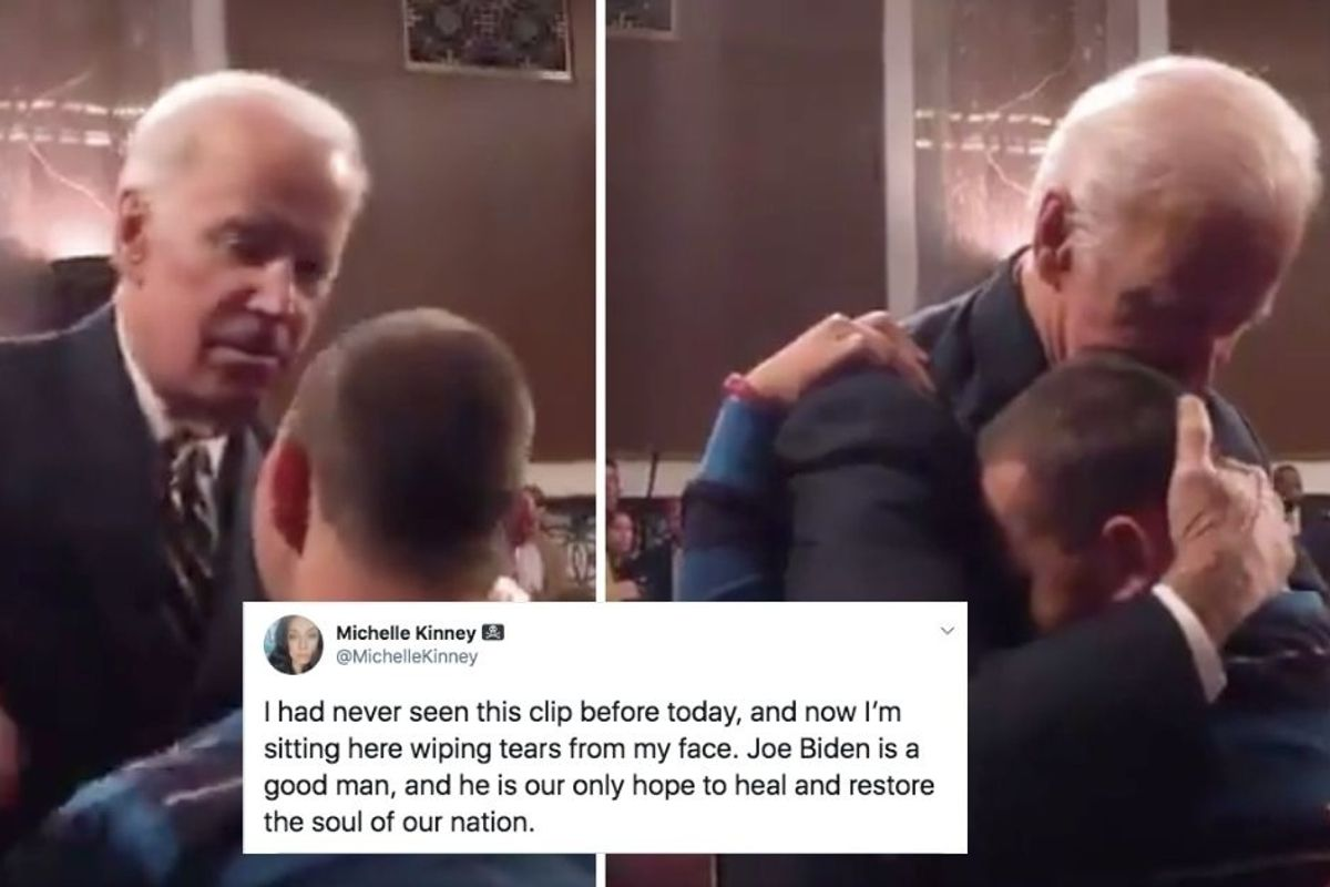 Clip of Biden comforting the son of a Parkland school shooting victim has Americans in tears