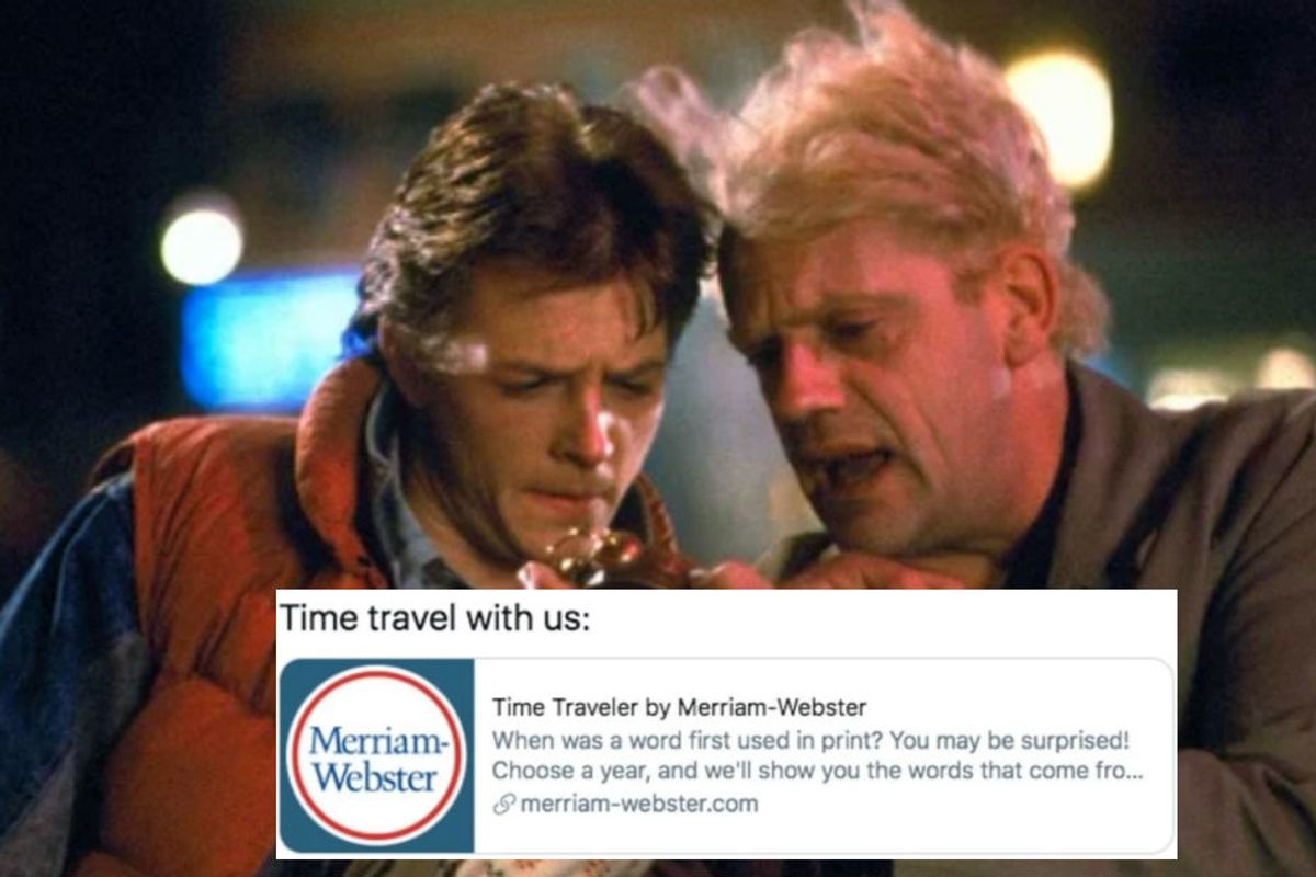 Merriam-Webster's 'Time Traveler' reveals what new words appeared the year you were born