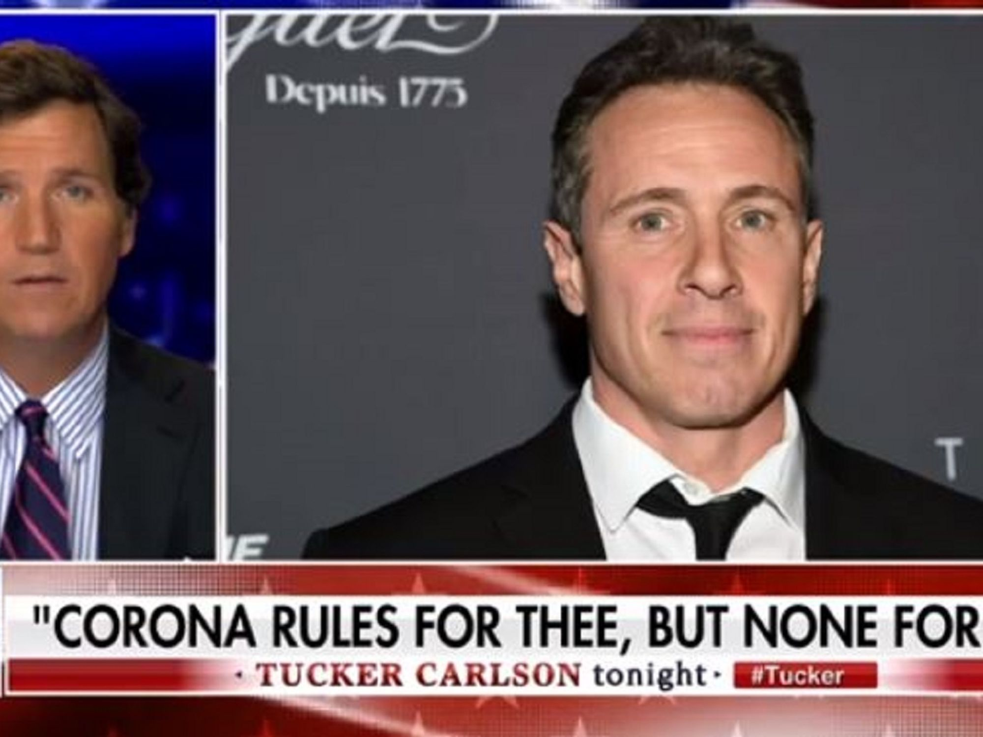 Tucker Carlson reveals letter from Chris Cuomo's building manager scolding CNN host for refusing to wear amask