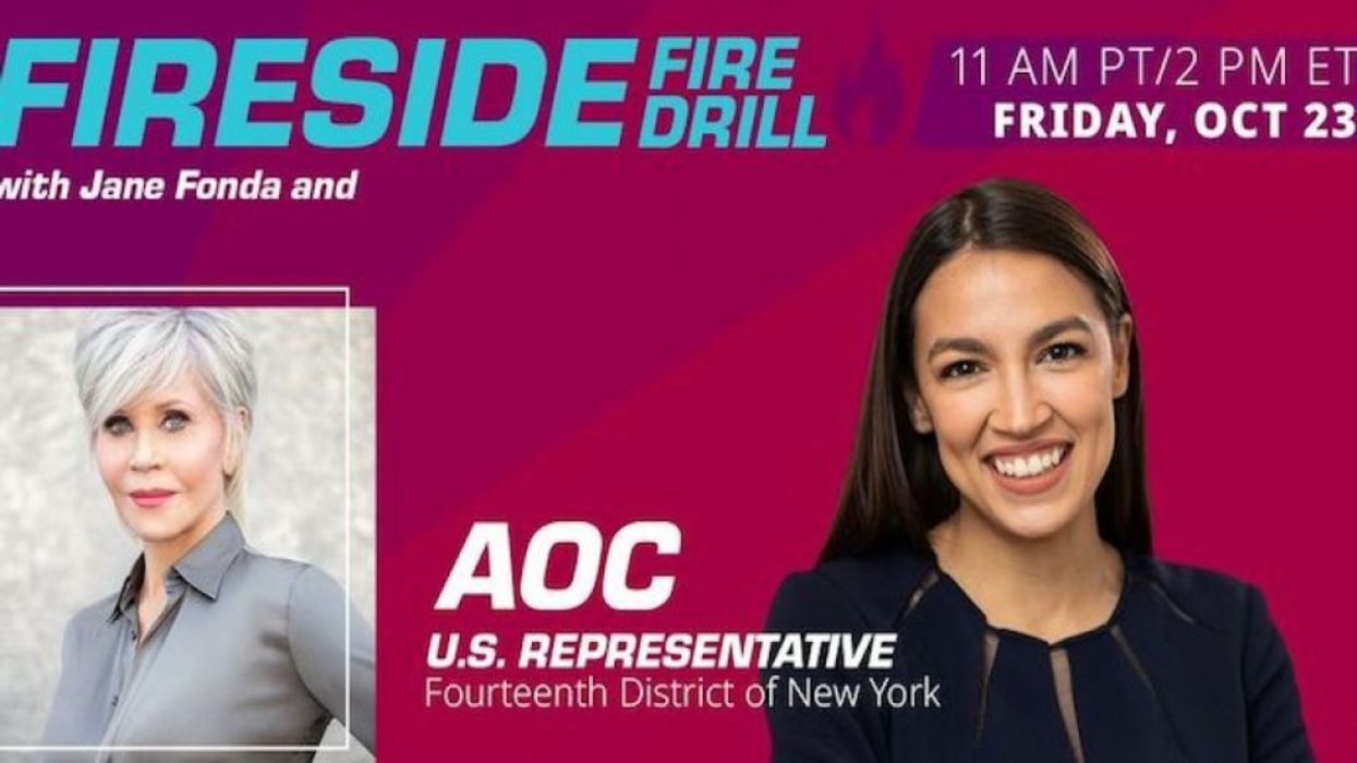 AOC Joins Jane Fonda for Fire Drill Friday on Importance of November Victory for Earth