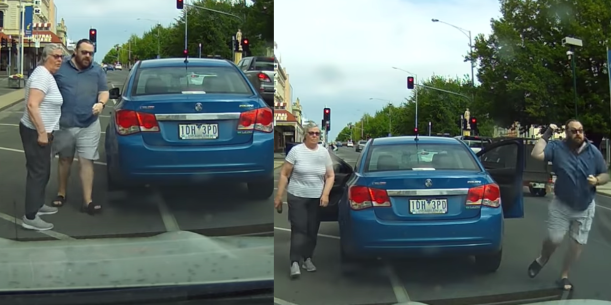 Couple Charges At Woman After Hitting Her Car, Then Gets Stopped By Cops Before They Can Flee The Scene