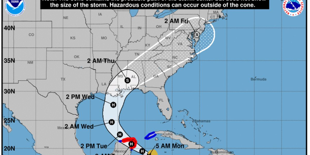 Zeta, Earliest 27th Named Storm on Record, Could Hit Gulf Coast as a Hurricane
