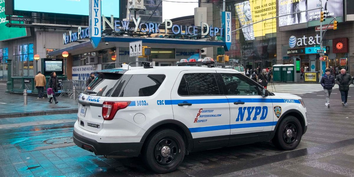 NYPD union attacks city leadership's 'double standard' for suspending 'Trump 2020' cop but praising chief for kneeling with BLM protesters