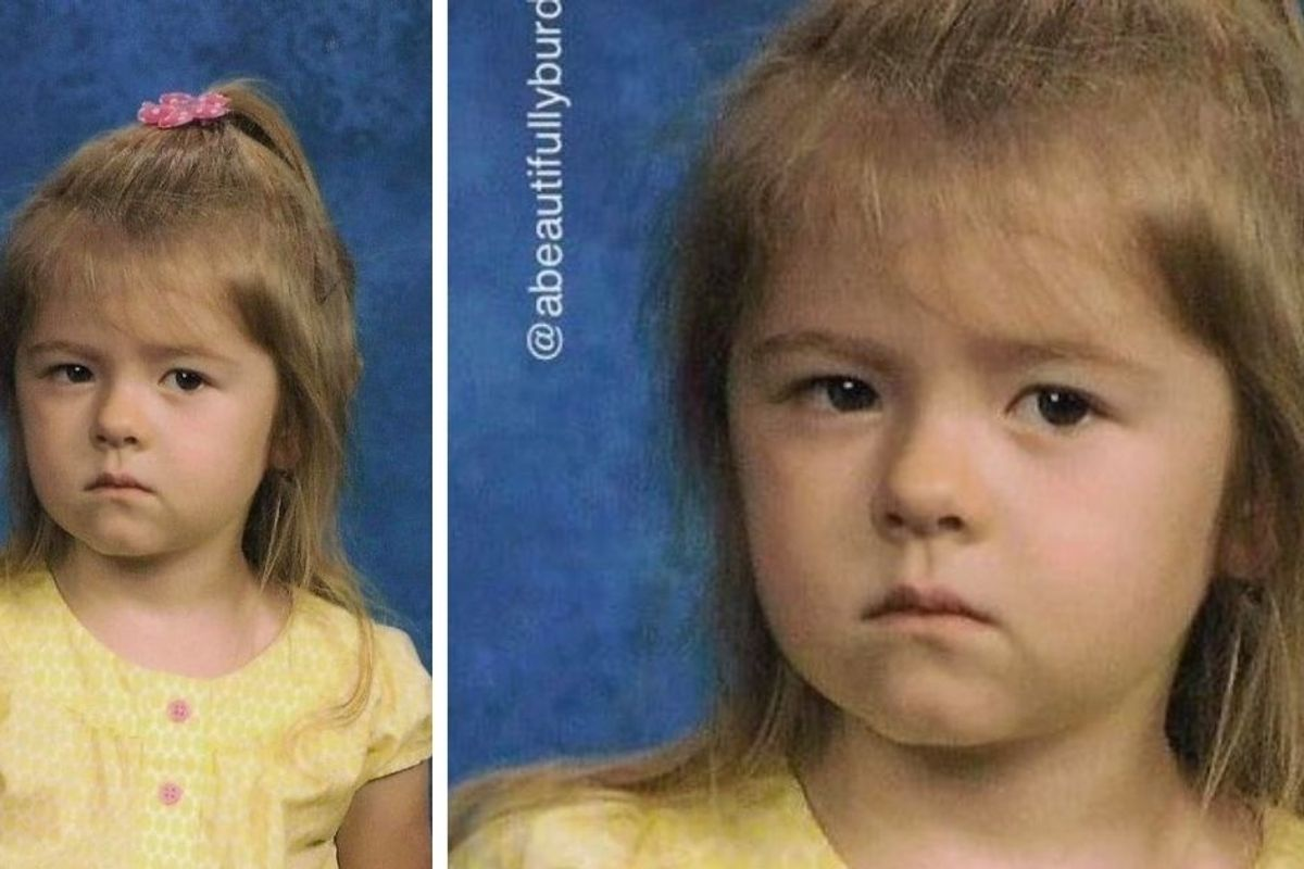 A mom shared her daughter's un-smiling school photo and explained why it made her so proud