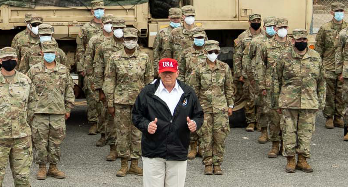 Army leaders warn soldiers and veterans not to help Trump remain in power